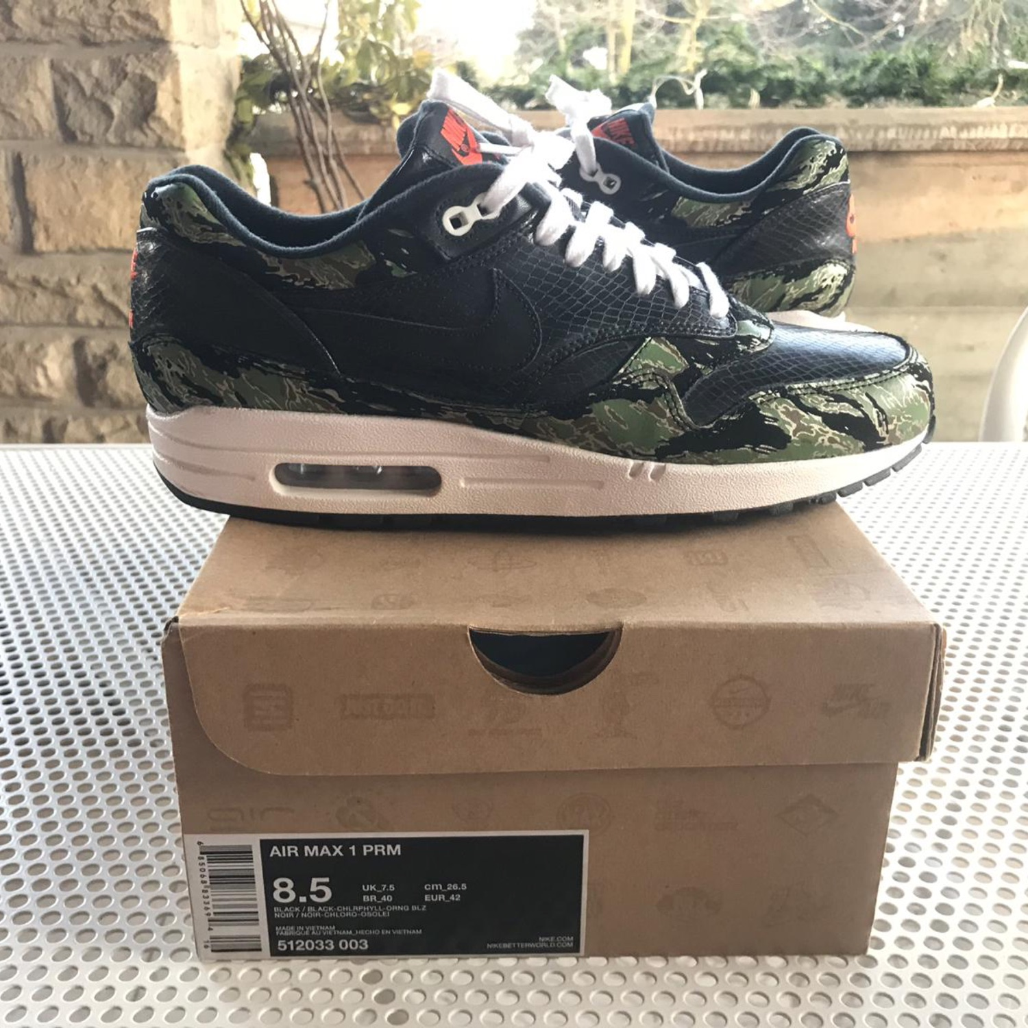 new concept bba2a 11353 Air Max 1 Prm Atmos Tiger Camo Patta Parra Safari