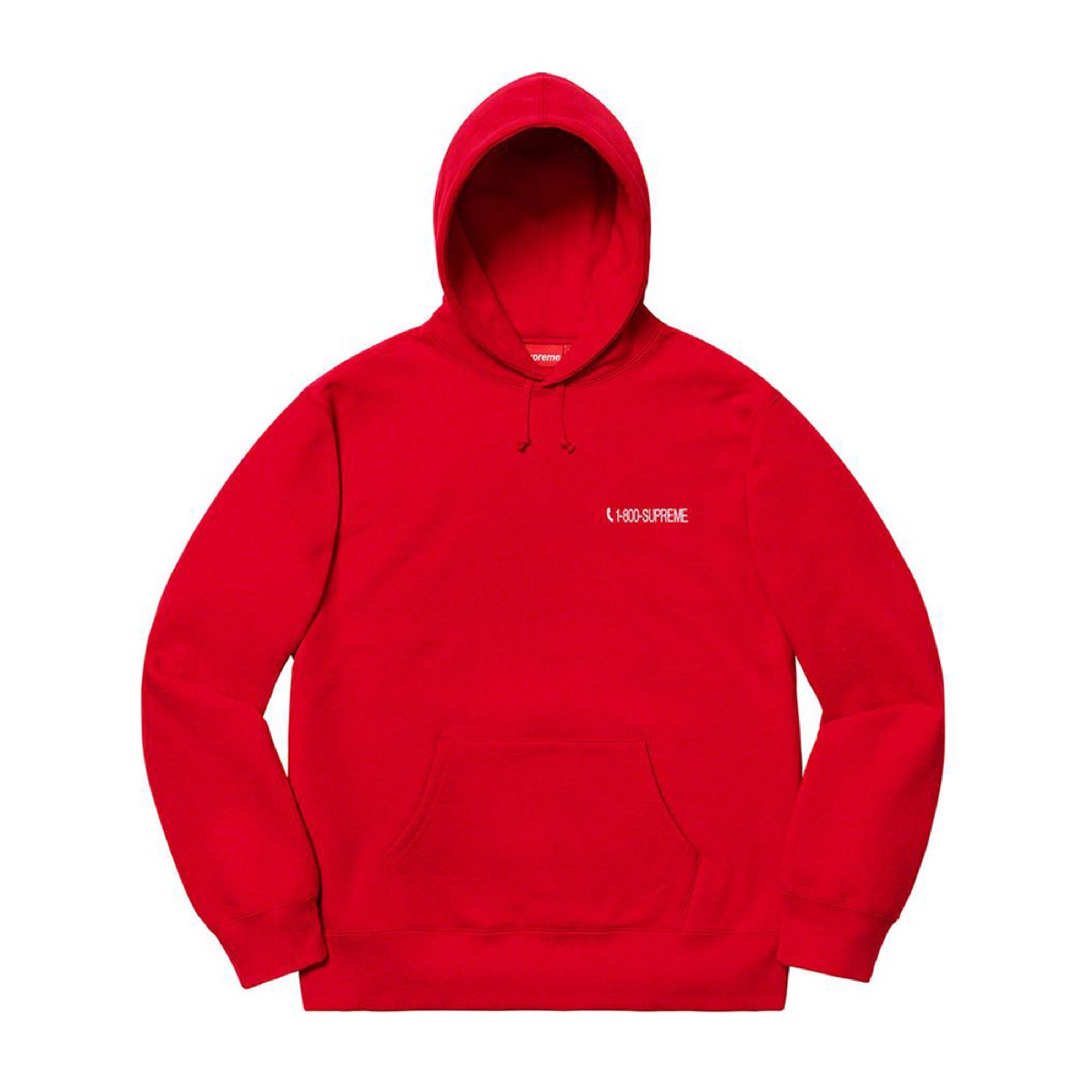 Supreme 1-800 Hooded Sweatshirt Red
