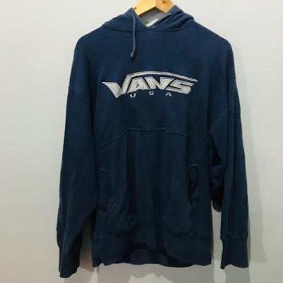 Vintage 90'S Vans Usa Hoodies Big Logo
