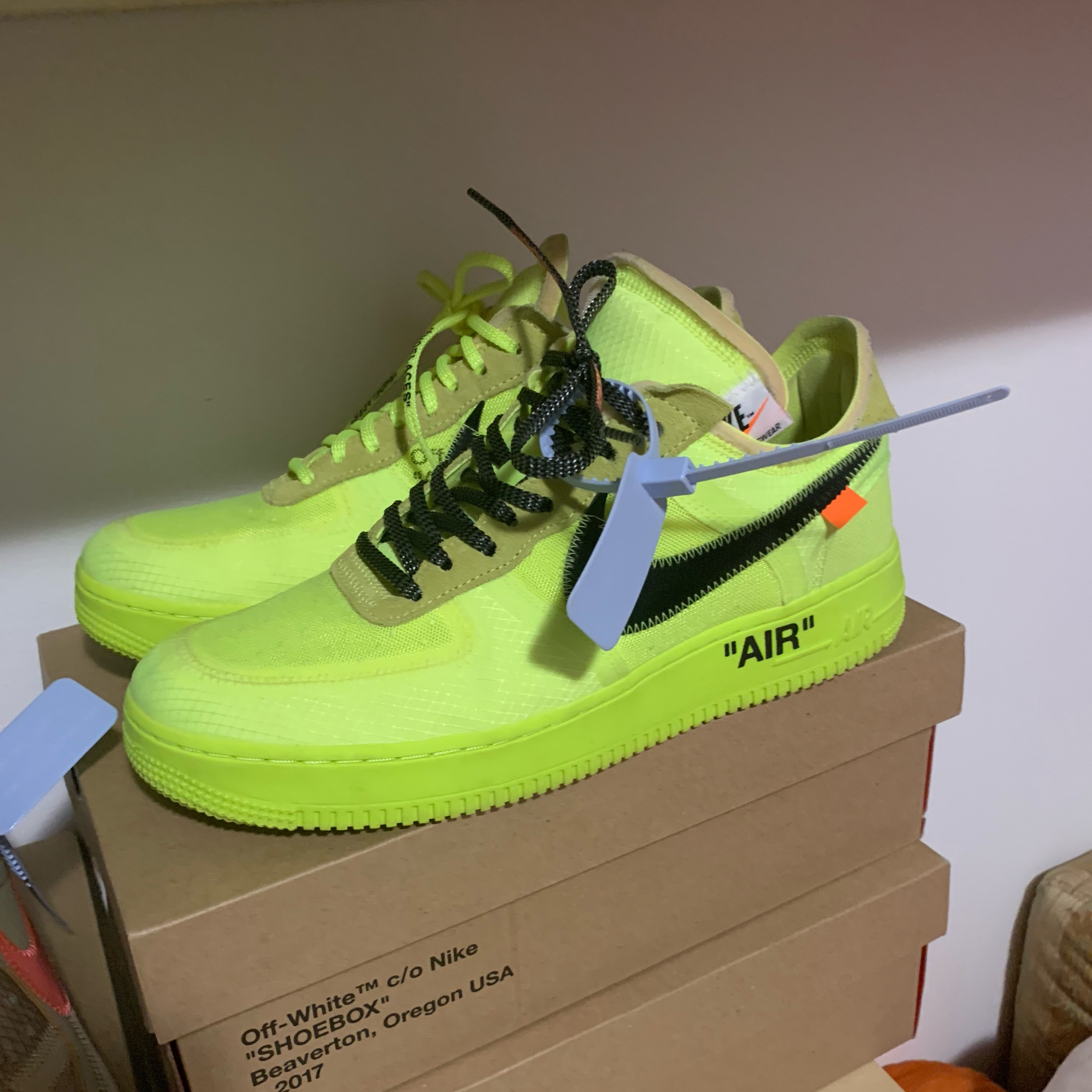 on sale ea0b7 a83f8 Nike Air Force 1 X Off White Volt