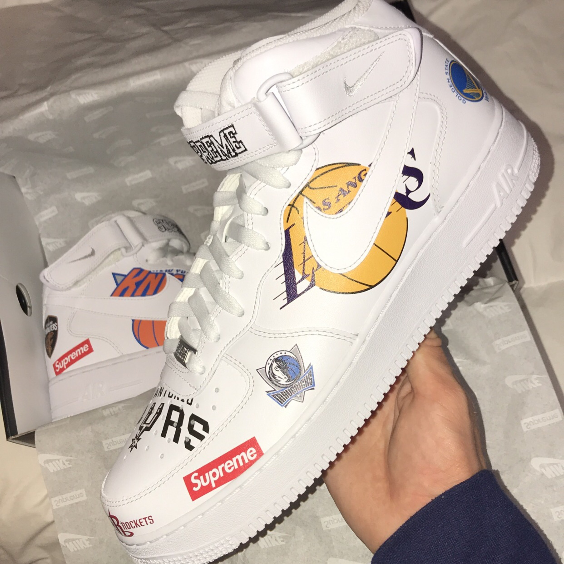 best authentic 7e792 71a58 Nike Air Force 1 Mid X Supreme X Nba