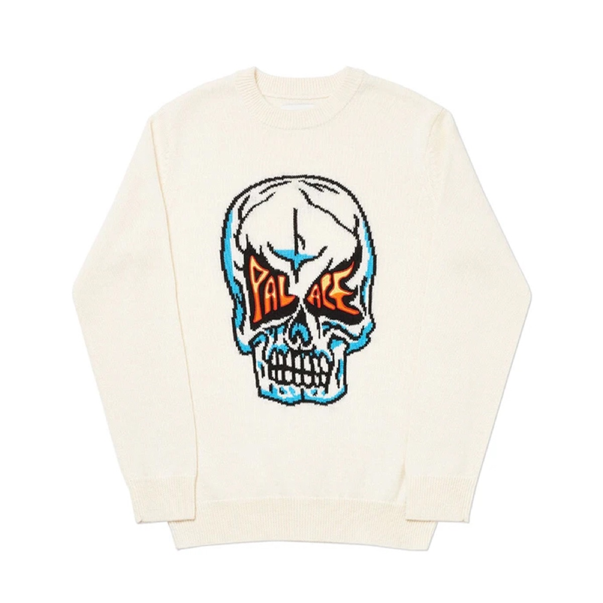 Palace Skull Knit White