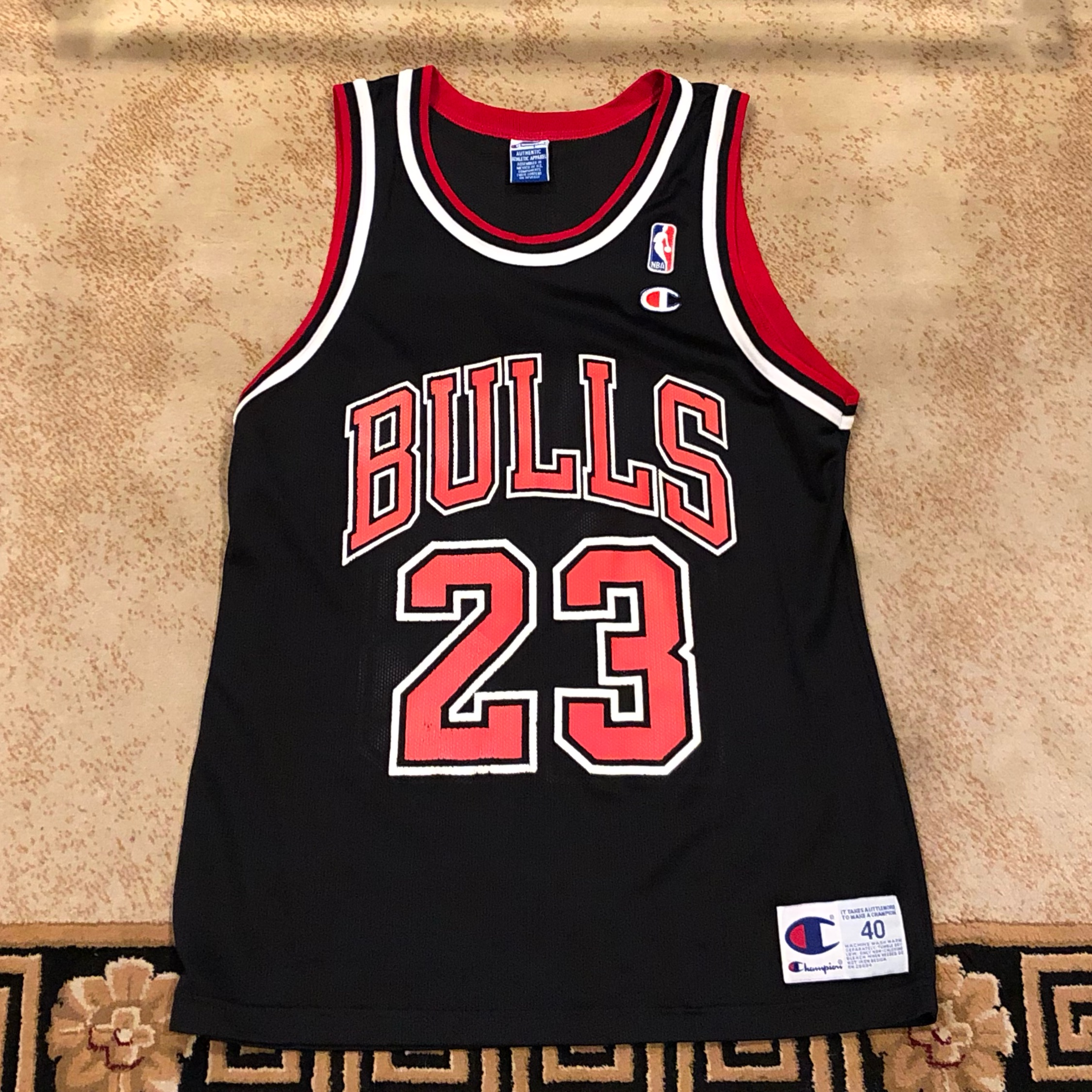 best service ea175 392ec black and red michael jordan jersey