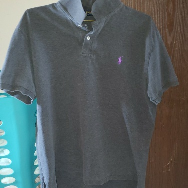 Polo Ralph Lauren Heather Grey Polo Purple Horse
