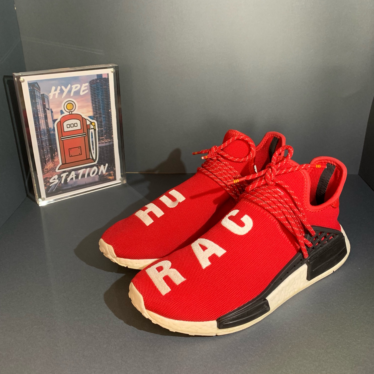 low priced db6cb 2748b Adidas Nmd Hu Pharrell Human Race Scarlet (Used)