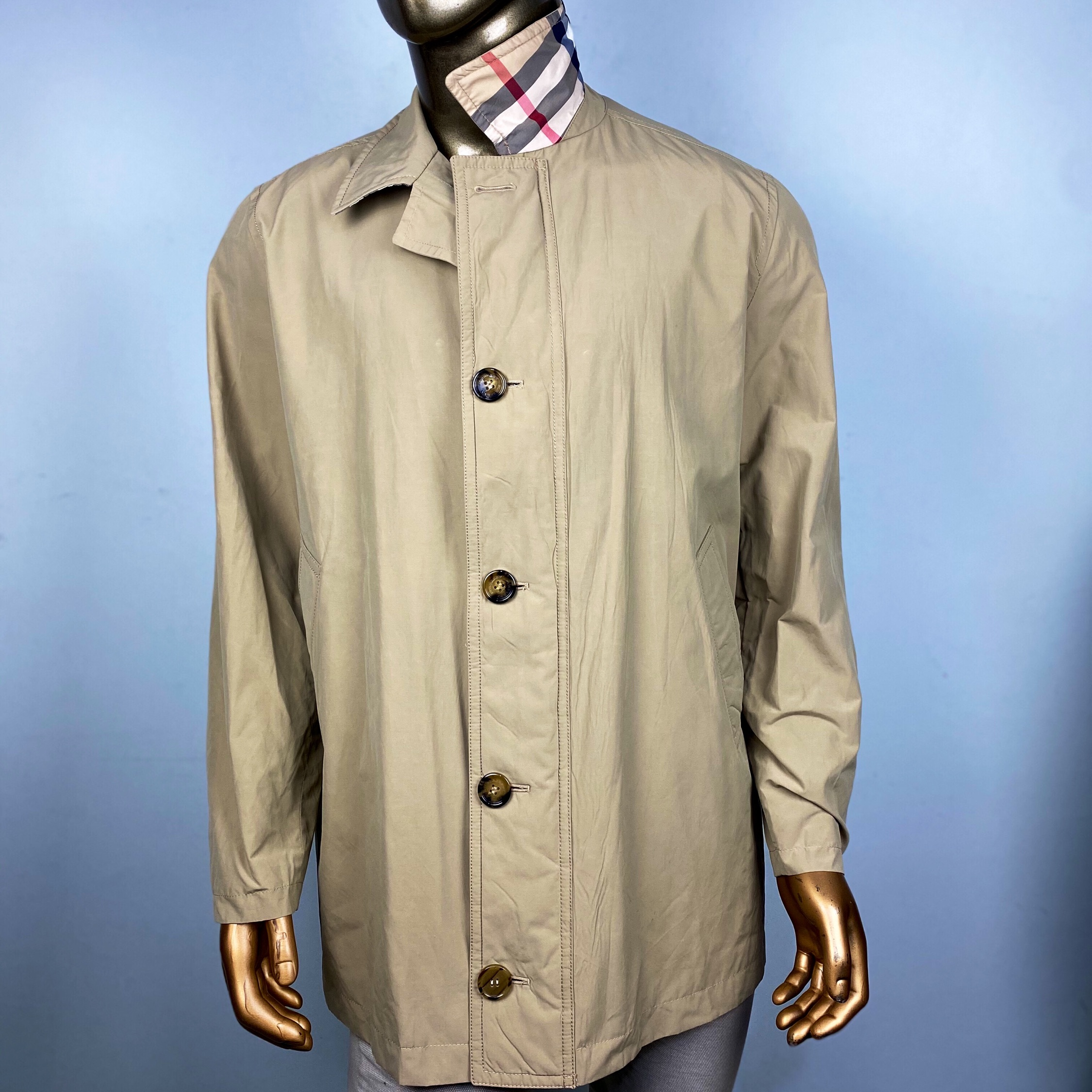 Burberry Parka Light Jacket New Nova Check Xl