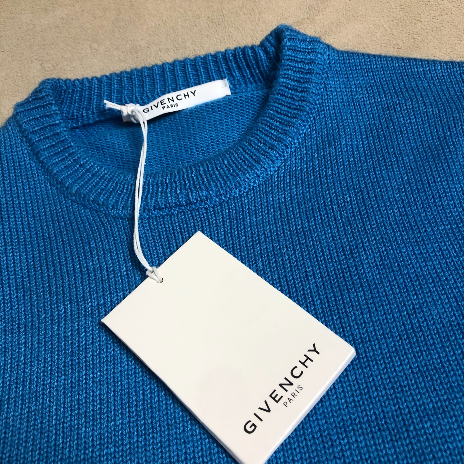 Blue Givenchy Mens Crewneck Jumper New
