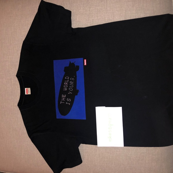 """Supreme X Scarface Tee """"The World Is Yours"""""""