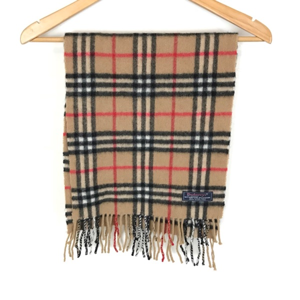Vintage Burberry 50% Cashmere 50% Wool Scarf