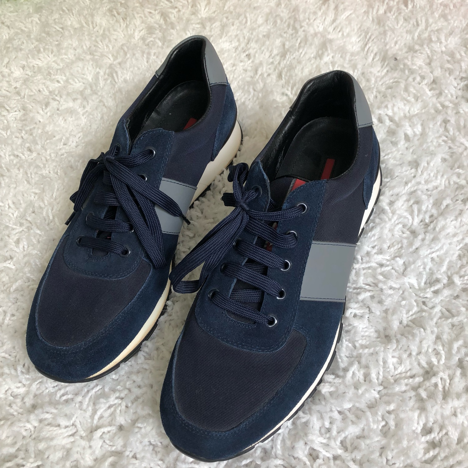 best place highly coveted range of arriving Prada Runner Men's Navy Trainers