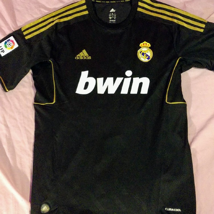 adidas official real madrid soccer jersey black gold