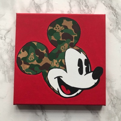 Mickey Mouse X Bape Style Painting