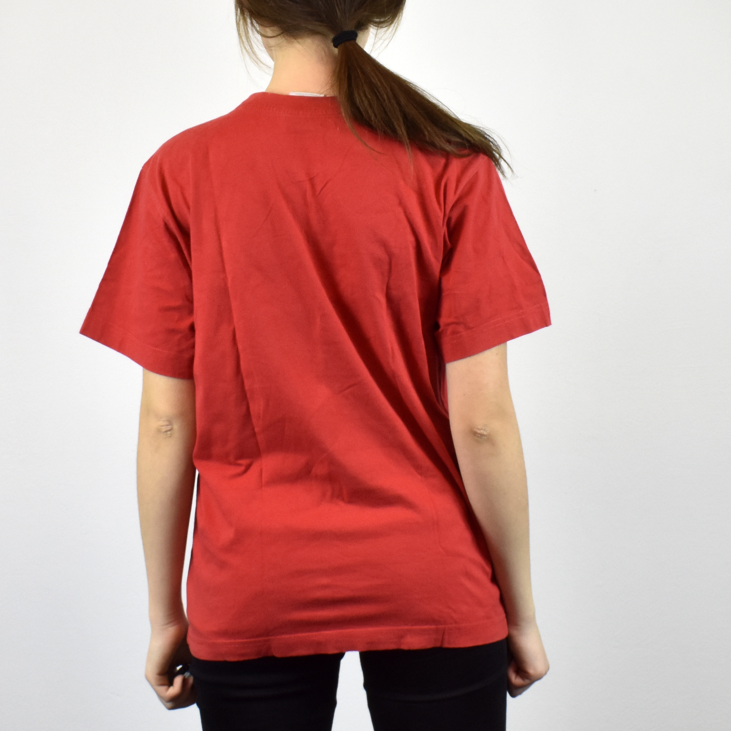 9f7e71bde Unisex Vintage Adidas t-shirt tee in red has a logo on the front size S