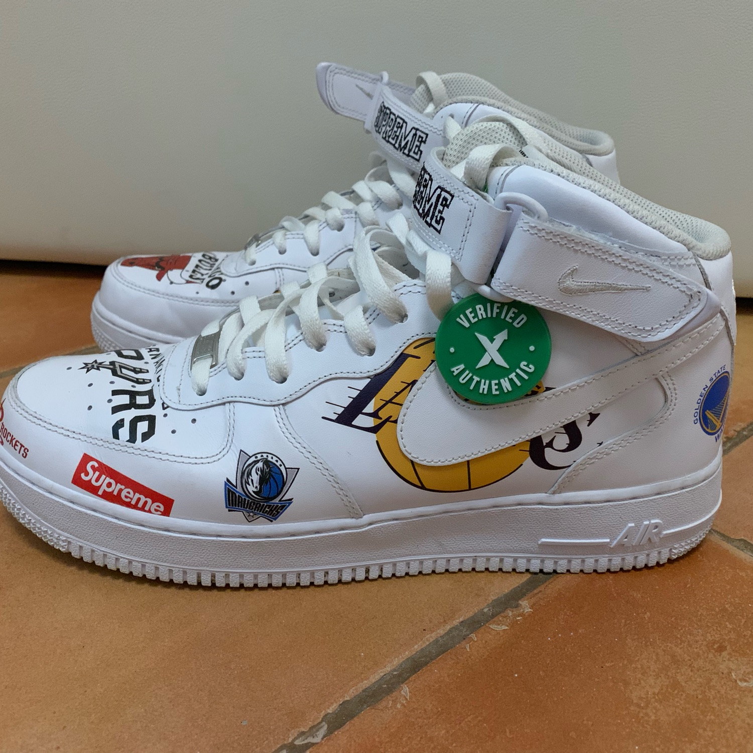 buy online 3f94a 41124 Nike Air Force 1 Mid X Nba X Supreme