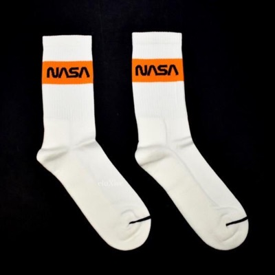 Heron Preston Nasa Logo Knit Socks White Ds