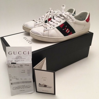 Original Gucci Ace Sneaker Panther 42