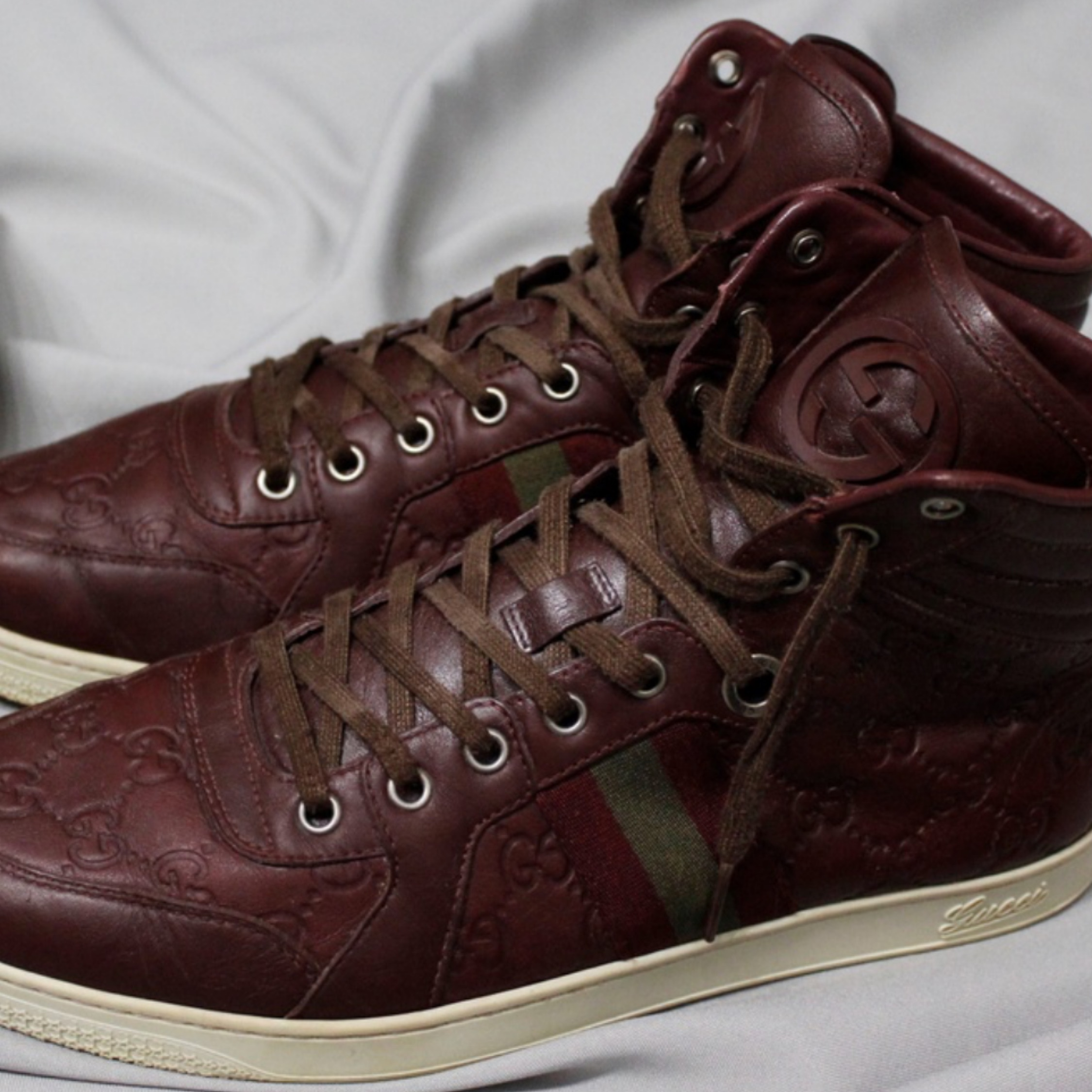 Gucci Guccissima Leather High Top Trainers