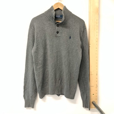 Vintage Ralph Lauren Button Up Grey Fleece