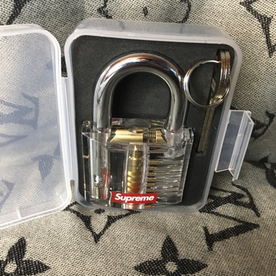 Supreme Transparent Lock With 3 Sticker Pack