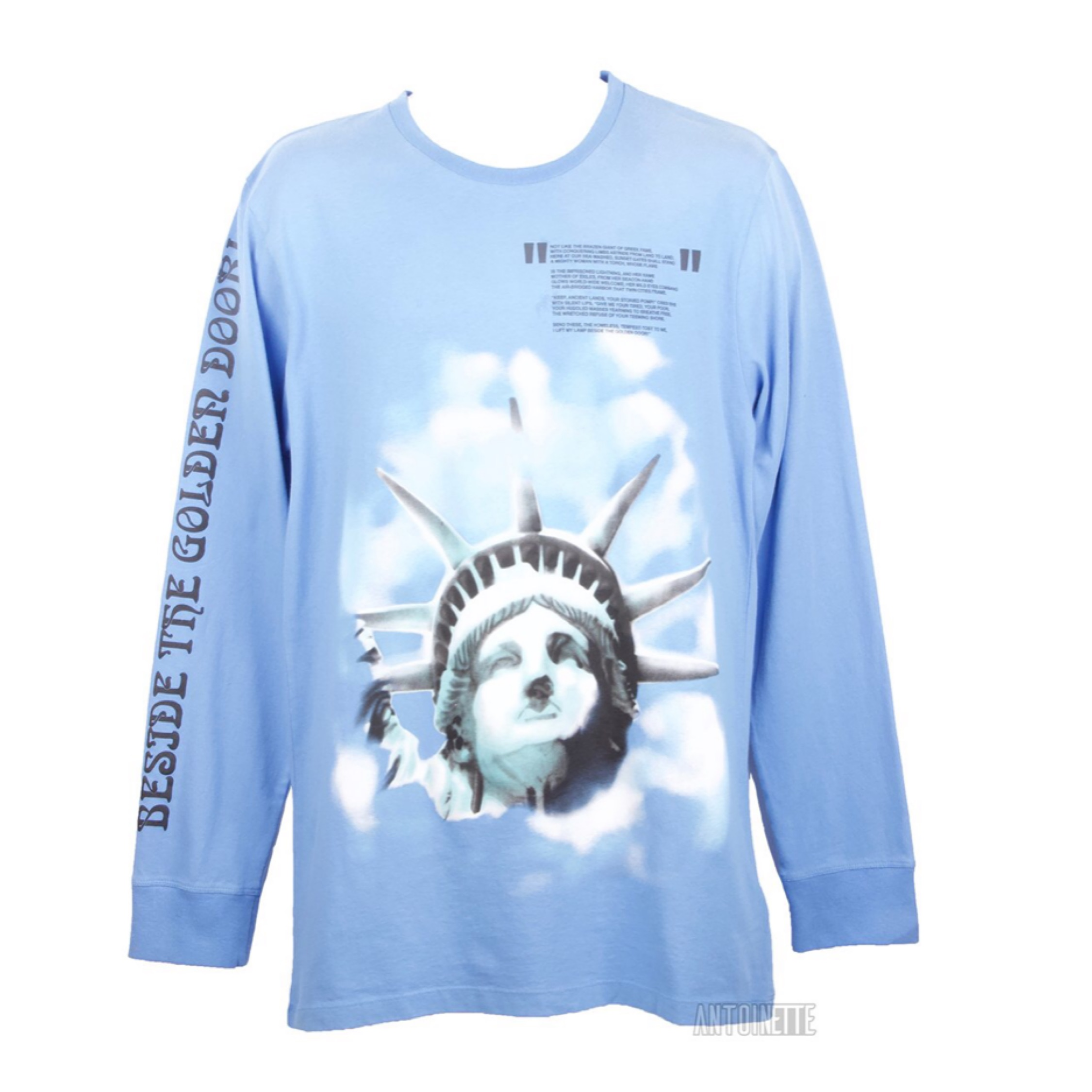 Off-White Blue Statue Of Liberty Long-Sleeve Shirt