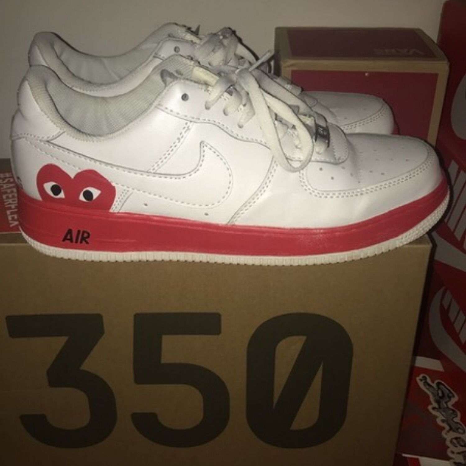 air force 1 cdg rouge