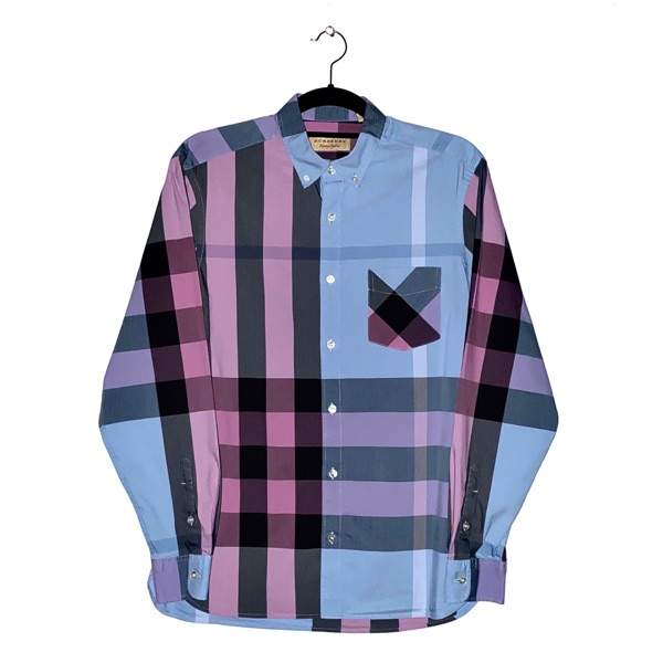 Burberry Pink & Blue Nova Check Shirt Rare Size M