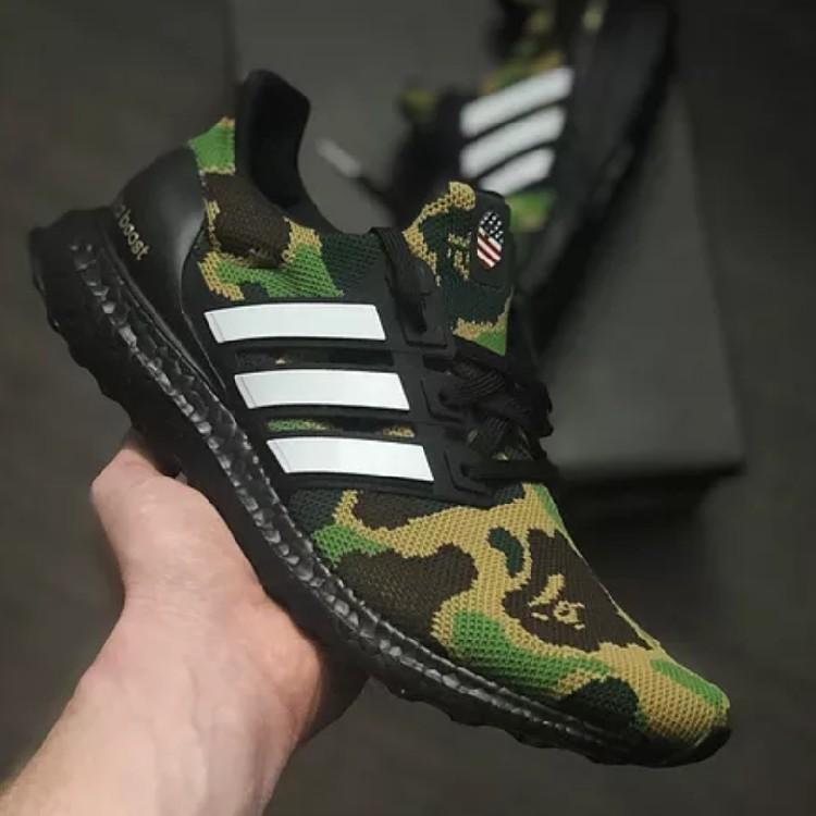Bape X Adidas Ultra Boost Green Cam