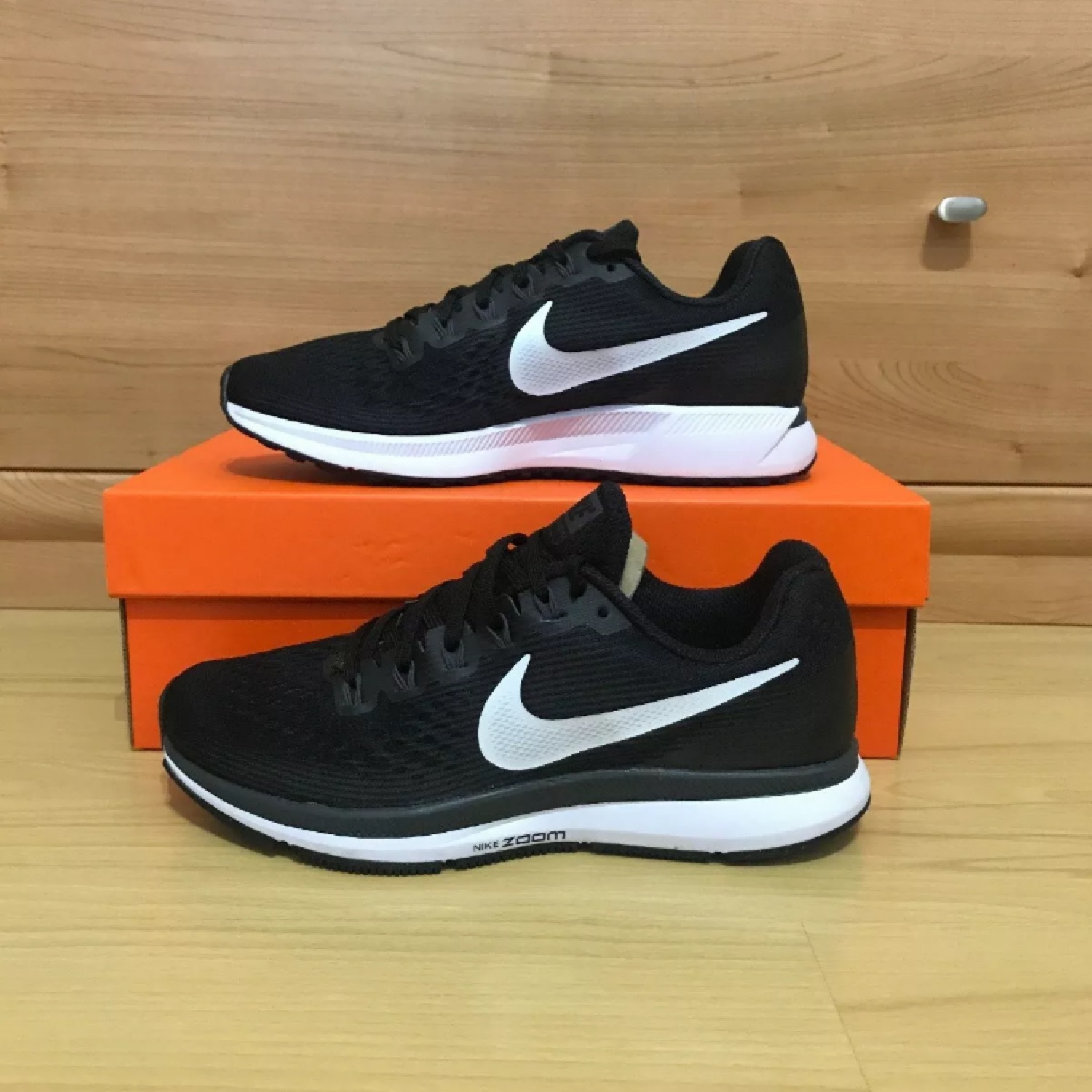 Nike Women's BlackWhite Air Zoom Pegasus 34 Uk 5