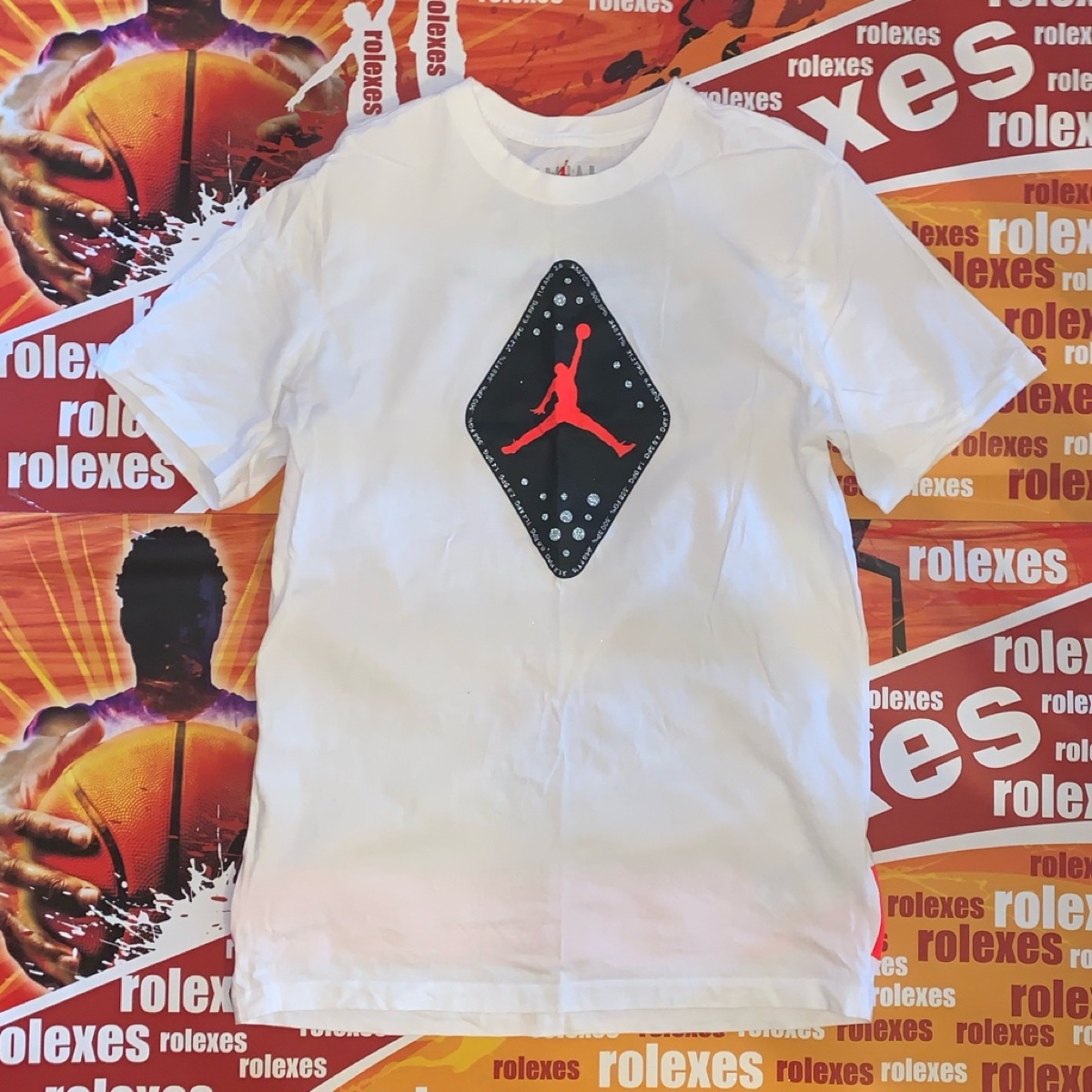 Nike Air Jordan 6 infrared Tee White (2019)