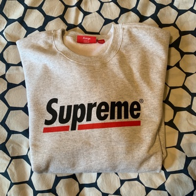Supreme Underline Crewneck Grey