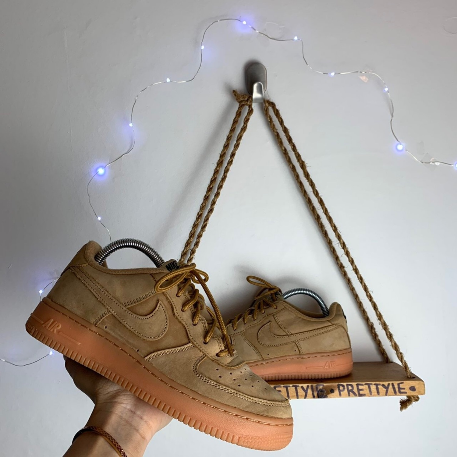 Air force 1 leather trainers Nike Beige size 38 EU in