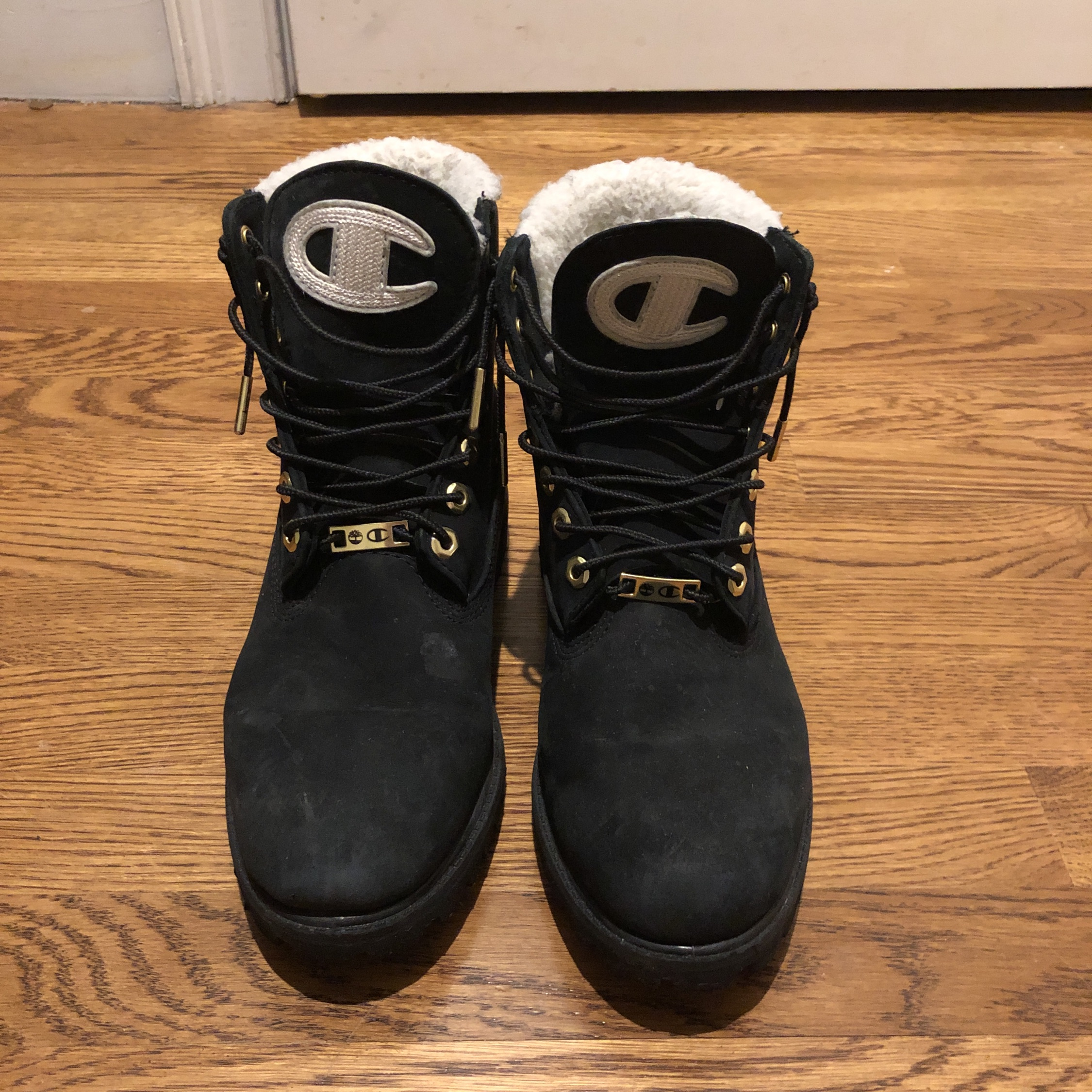 5d06ebb766dd5 Black Timberland Champion (Shearling) Boots