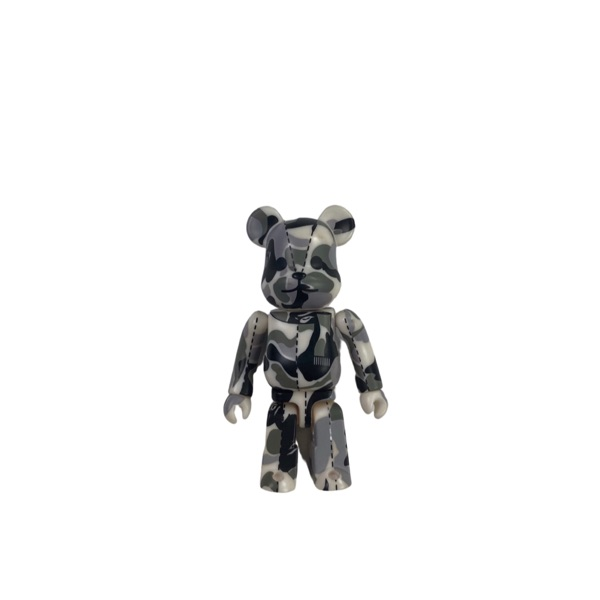 Bape White & Grey Camo Bearbrick