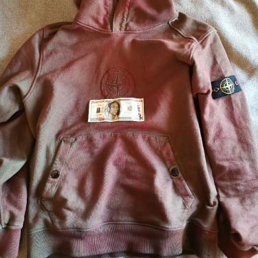 Supreme x Stone Island Hoodie SS19 Red SIZE LARGE