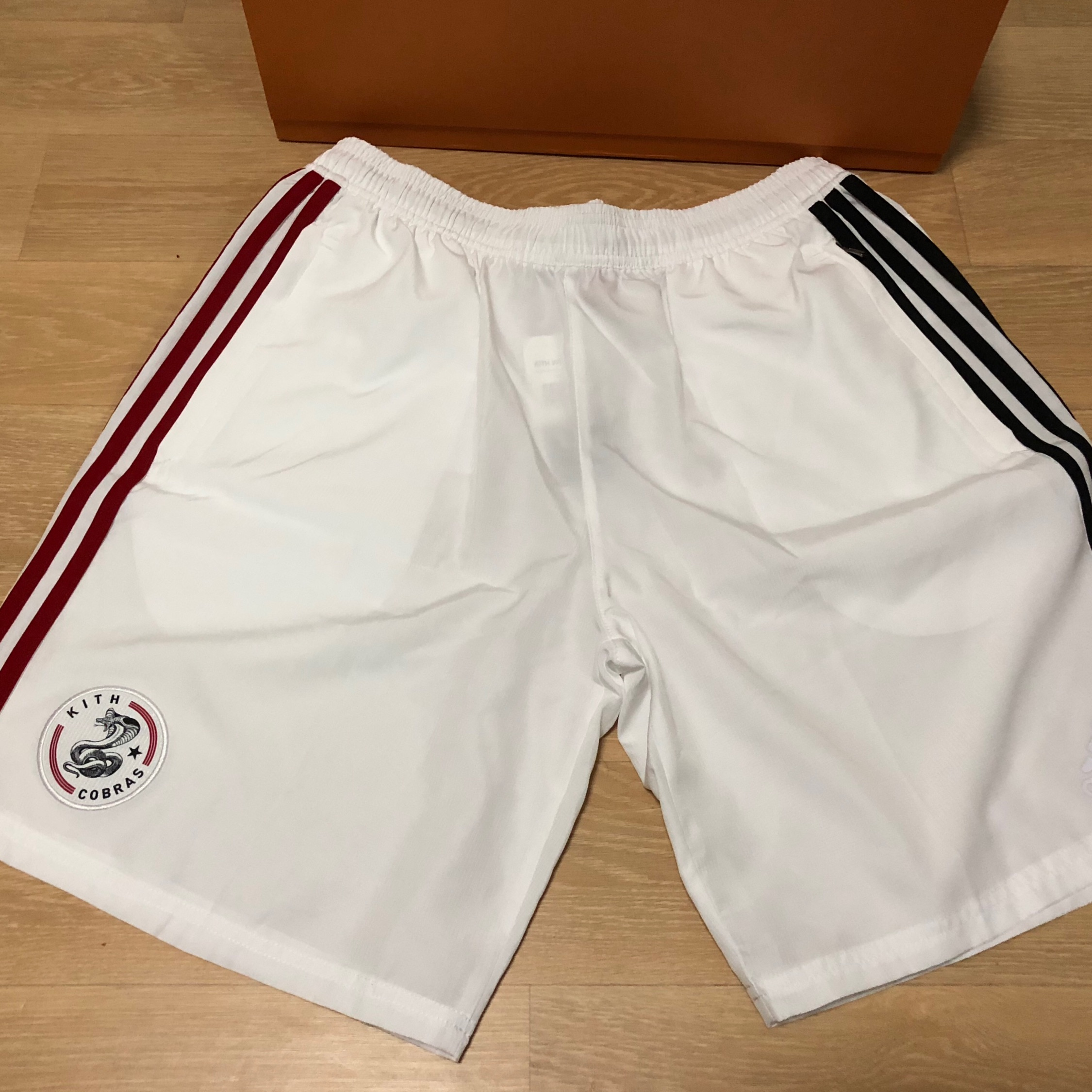 new arrival 73212 19fdd Kith X Adidas Soccer Drop #1: White Cobras Shorts