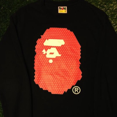 A Bathing Ape Digital Big Ape Head Longsleeve Tee