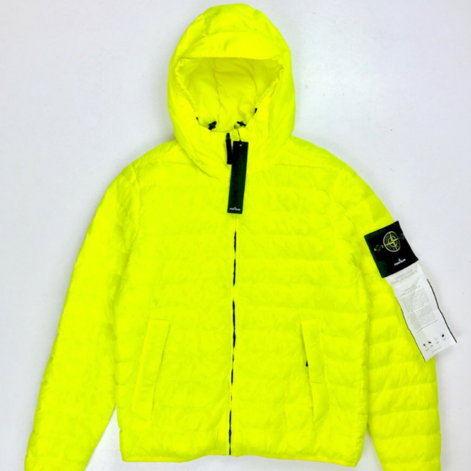 Stone Island Garment Dyed Down Jacket Yellow