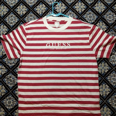 Guess X ASAP ROCKY Striped Tee Size L Red