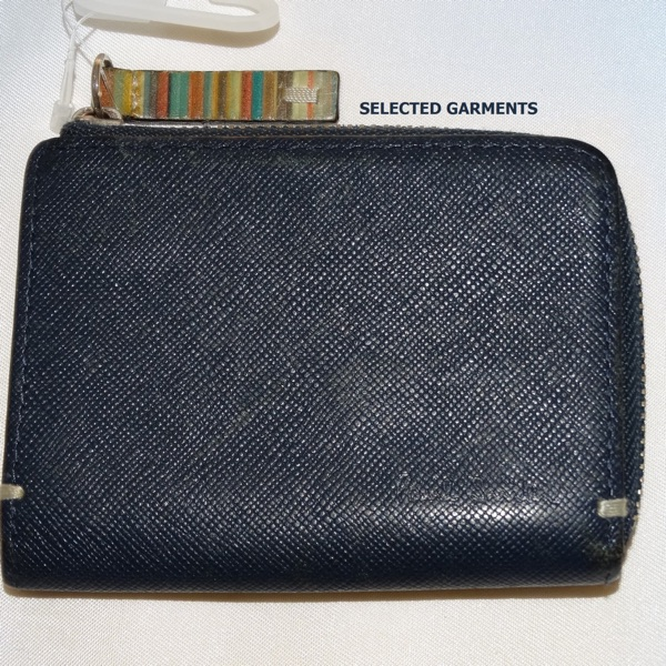 Paul Smith Cards Coins Holder Blue Leather