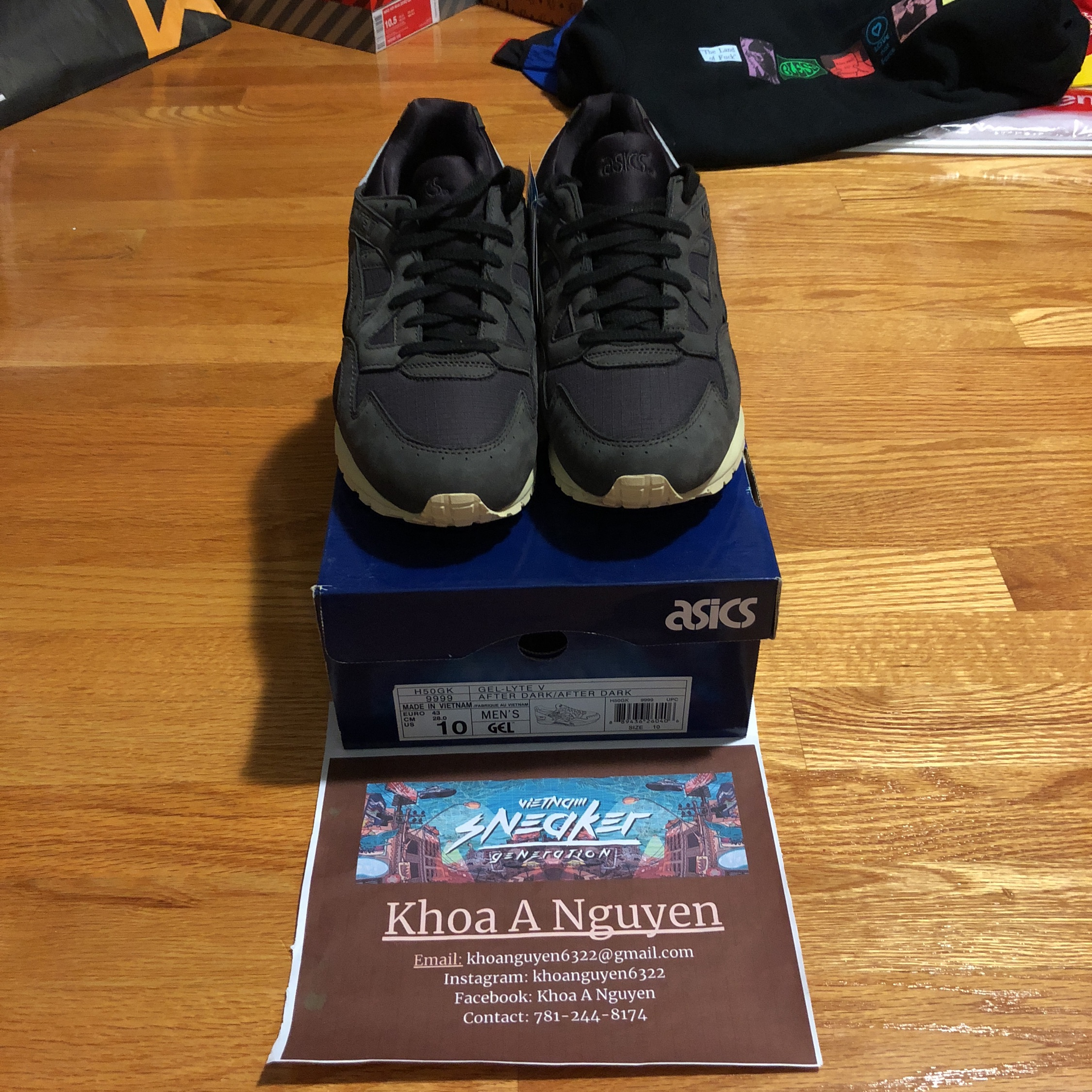 new concept c2e8e 269a4 100% Authentic Gel-Lyte V Saint Alfred After Dark