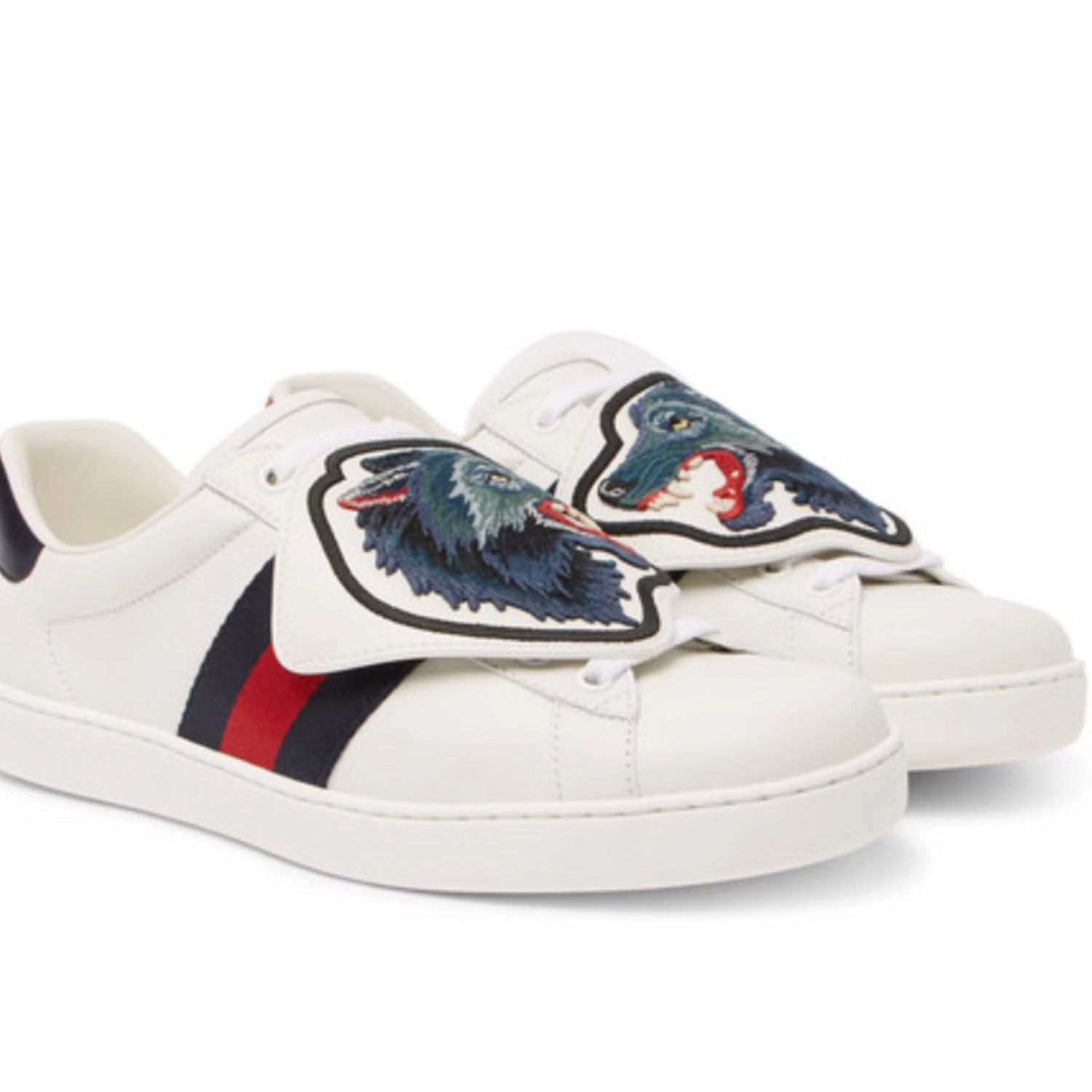 Gucci Wolf Emblem Leather Sneakers