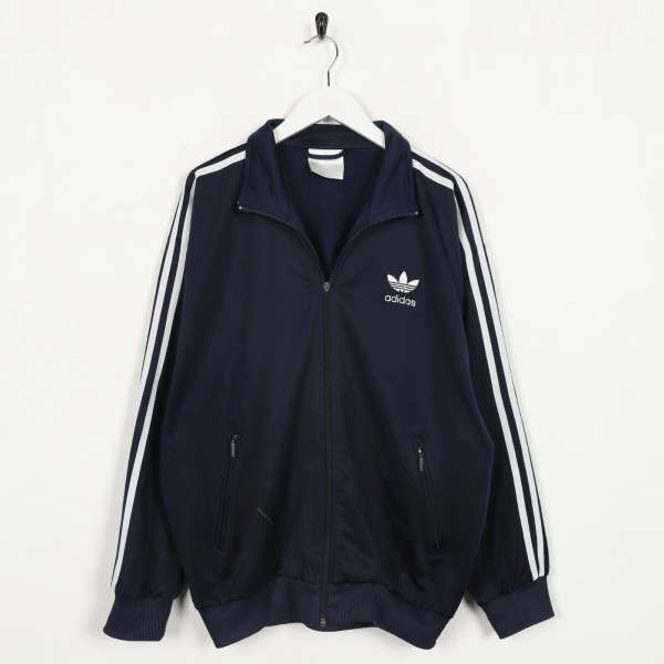 Vintage 80s ADIDAS Small Trefoil Logo Tracksuit Top Jacket Blue small S