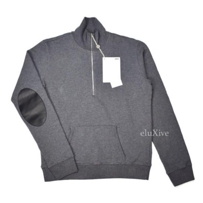 Maison Margiela Gray 1/2 Zip Elbow Pad Sweatshirt