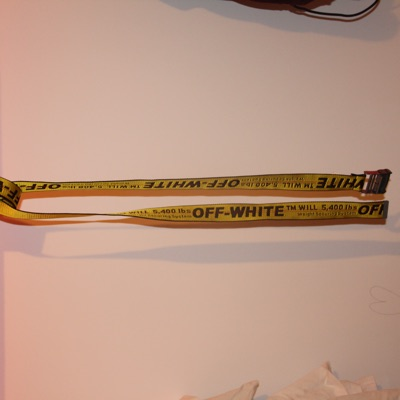Off-White Industrial Belt Yellow (Ss18)