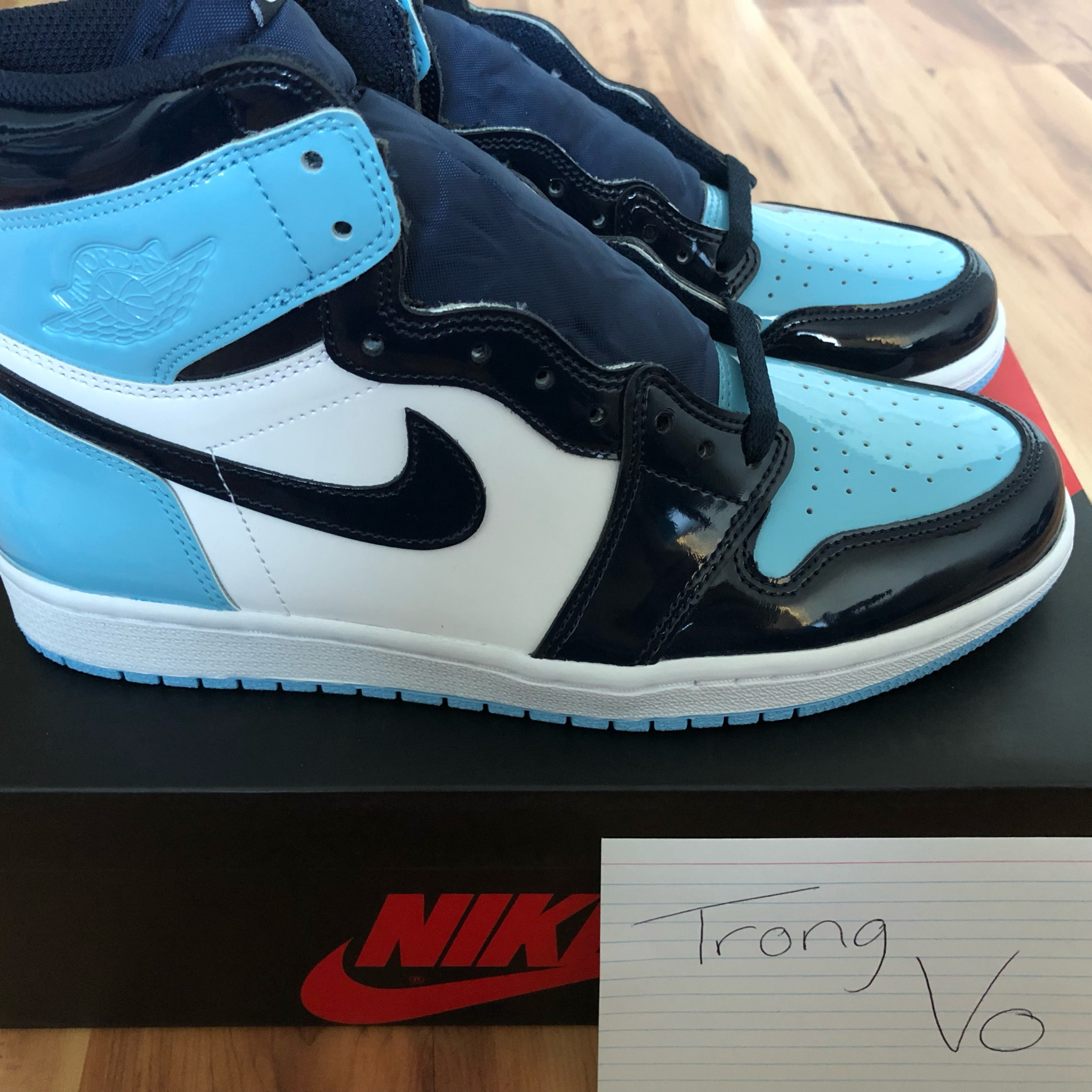 Air Jordan 1 Blue Chill Unc Patent