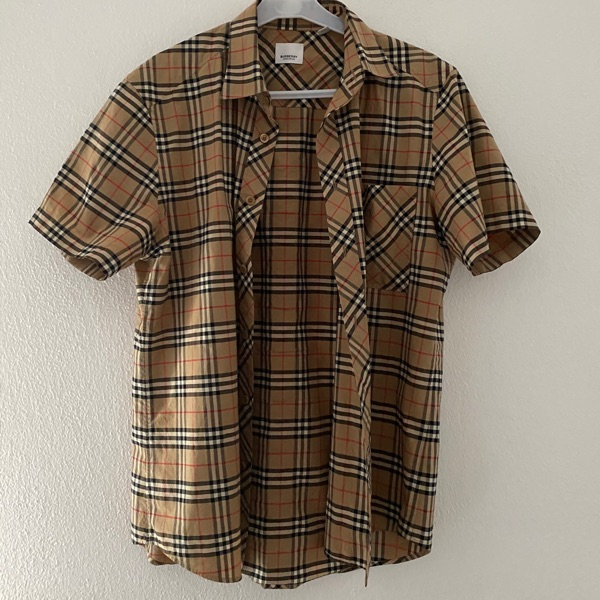 Burberry Short Sleeve Shirt - Camel