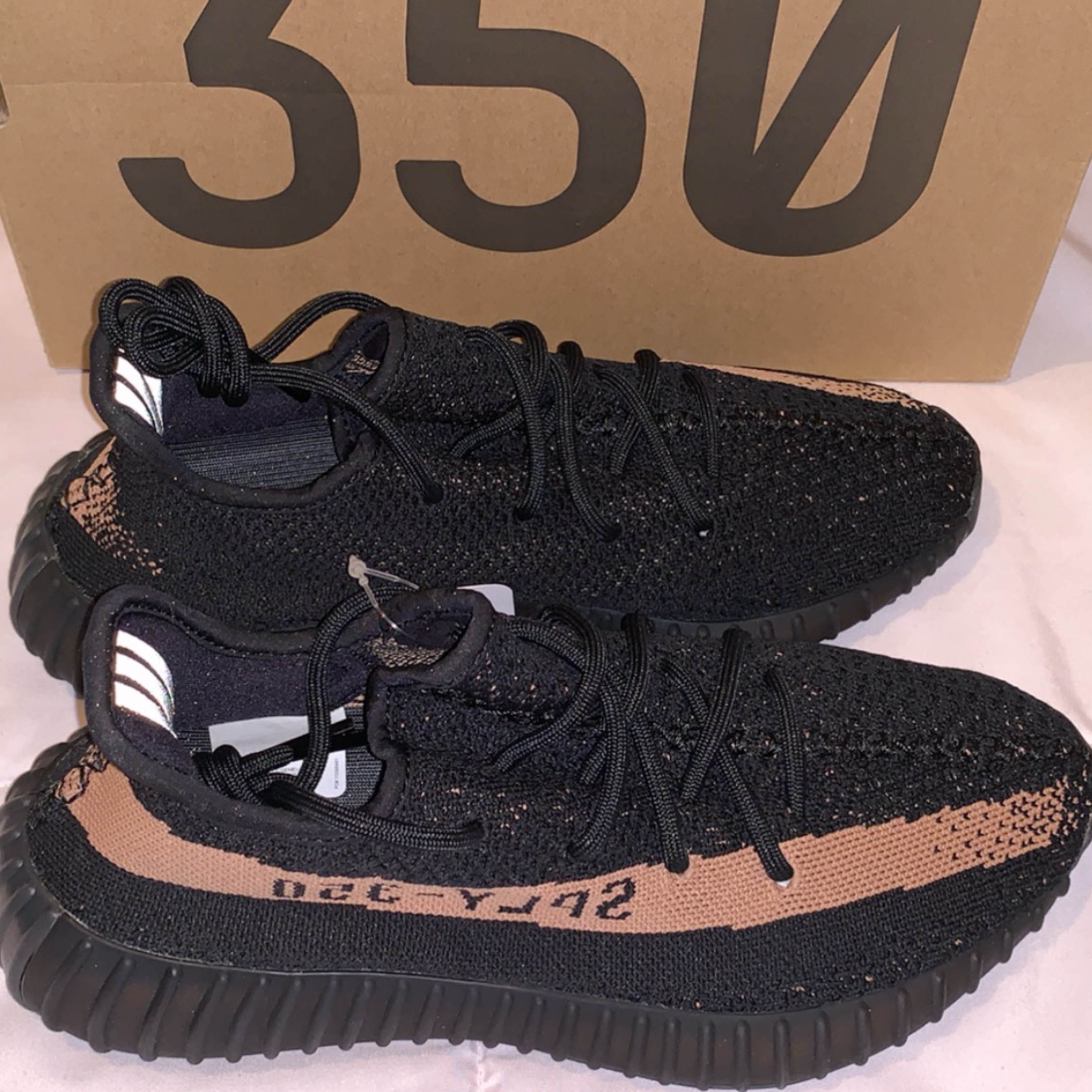 1229a930bf944 Adidas Yeezy Boost 350 V2 Core Black Copper