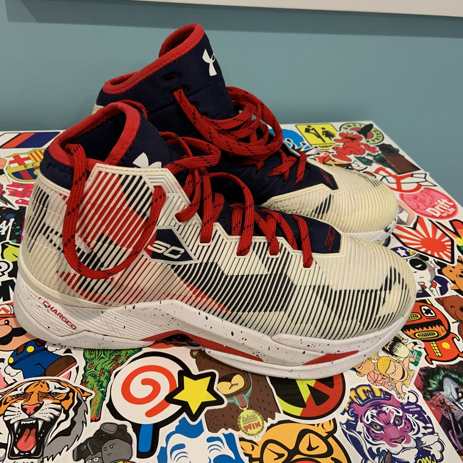 Curry 2.5 Red White And Blue Olympic