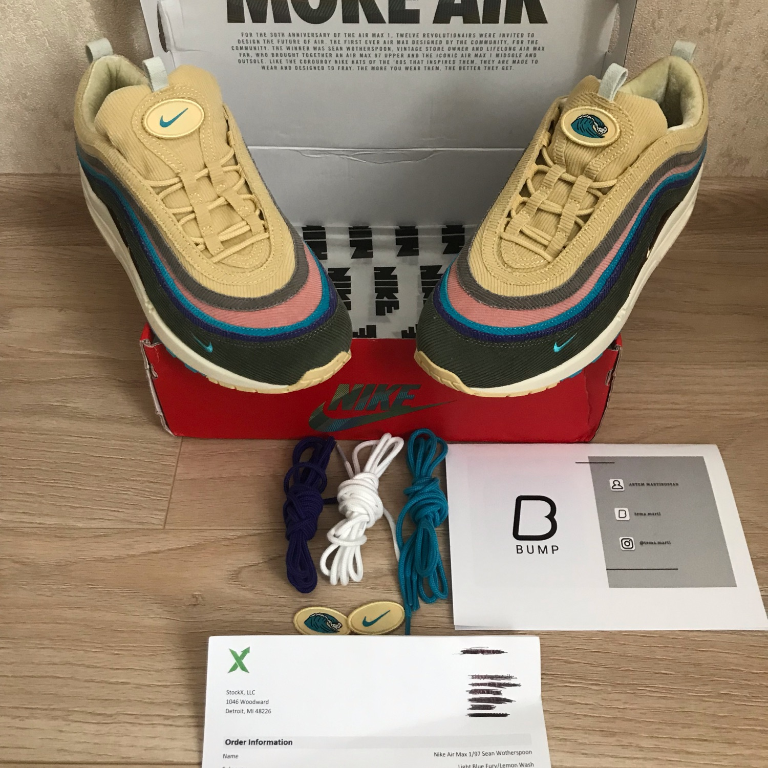 competitive price 92895 40bfb Nike Air Max 1/97 Sean Wotherspoon