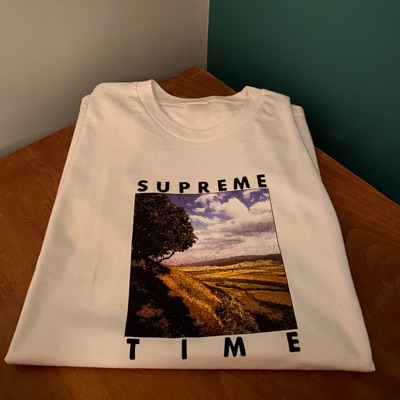 Supreme Time Tee White